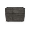 bedroom plank nightstand