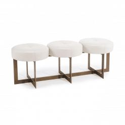 benches and ottomans white button bench