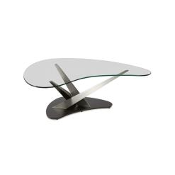 living room crystal coffee table