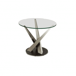 living room crystal round side table