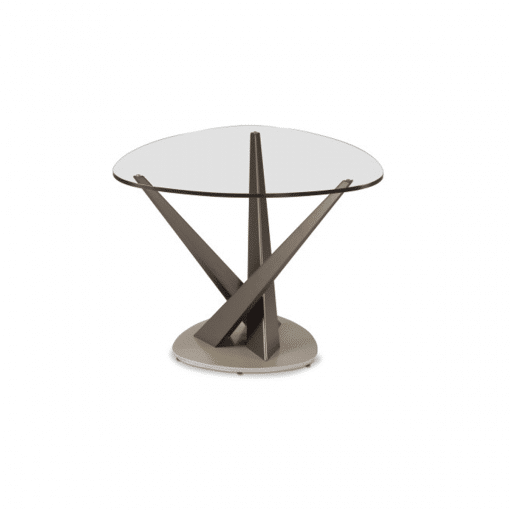 living room crystal soft triangle side table