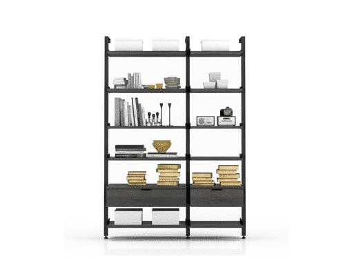 office gravity bookcase