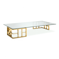 Harlan Coffee Table with Gold