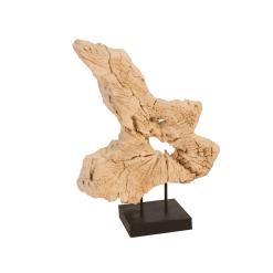 accessories teak sculpture 16 inch 2