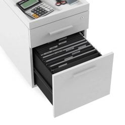 centro office 6407 BDI mobile file pedestal white 4 Medium