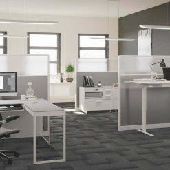 centro office BDI modern white desk system 2