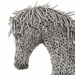 horse pipe sculpture walking Medium