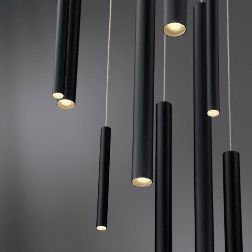 lighting 24 santana chandelier black finish