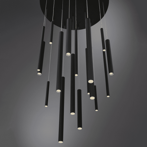 lighting 24 santana chandelier round black LS