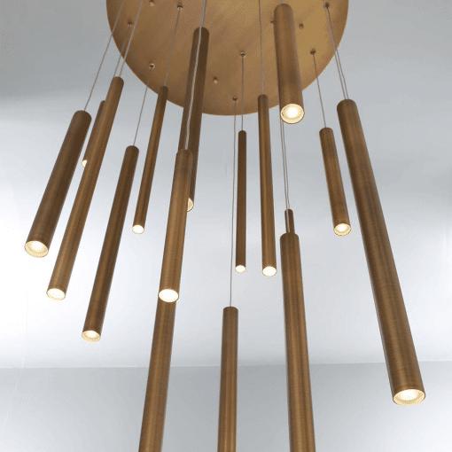 lighting 24 santana chandelier round brass LS