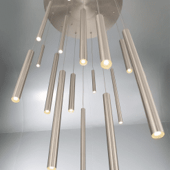 lighting 24 santana chandelier round satin LS