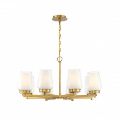 lighting Manchester 30-inch chandelier brass