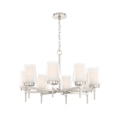 lighting manchester 30-inch chandelier satin nickel