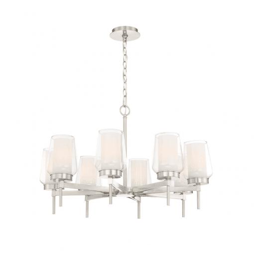 lighting manchester 30-inch chandelier satin nickel