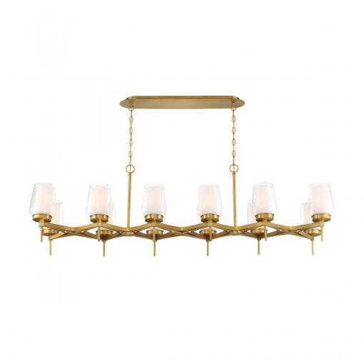lighting manchester 59-inch chandelier in brass
