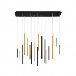 lighting santana linear chandelier multi