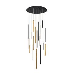 lighting santana round chandelier multi color