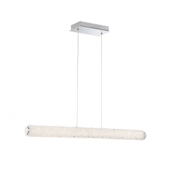 lighting sassi 36-inch linear chandelier