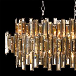 lighting vienna chandelier crystal linear