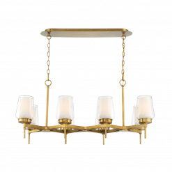 lighting manchester 38-inch chandelier in brass