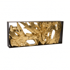 living room cast root gold leaf console table