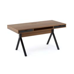 office furniture modica desk walnut