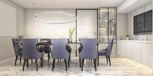 scoppia oval chandelier liveshot 1