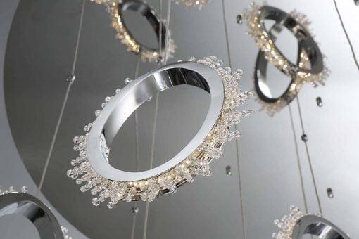 scoppia round chandelier closeup