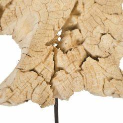 teak sculpture 34 inch details 1