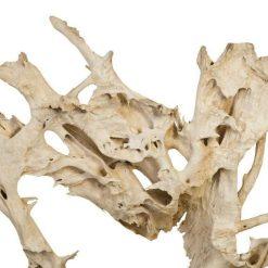 teak sculpture 84 inch details 1