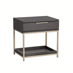 bedroom rebel night stand in charcoal grey