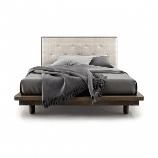 bedroom surface bed with tufted headboard