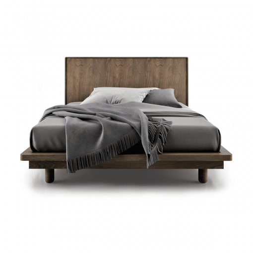 bedroom surface bed with wood finish