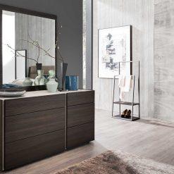 dado dice bruno oak dresser and mirror liveshot