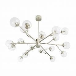 dallas chandelier polished nickel view