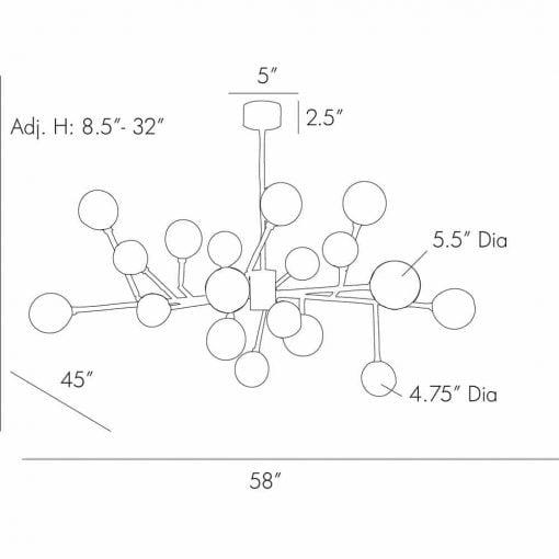 dallas medium chandelier dimensions