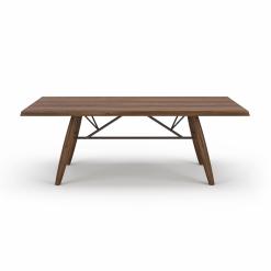 dining room 84-inch walnut table