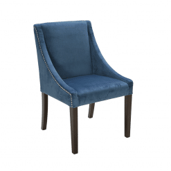 lucille dining chair in ink blue