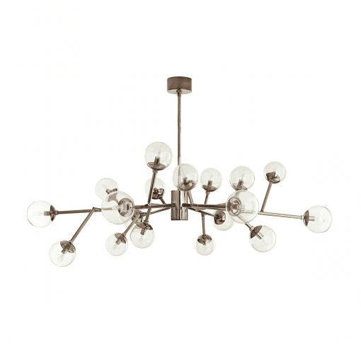 lighting dallas medium chandelier brown nickel