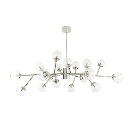 lighting dallas medium chandelier polished nickel