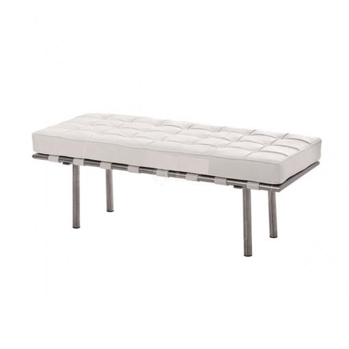 living room barcelona bench white