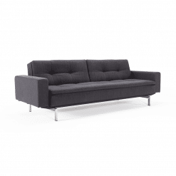 living room dublexo stainless steel sofabed with arms