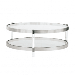 living room york coffee table in stainless steel
