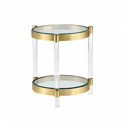 living room york side table antique brass