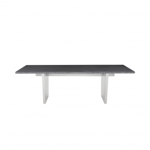 AIDEN DINING TABLE  OXIDIZED GREY FRONT