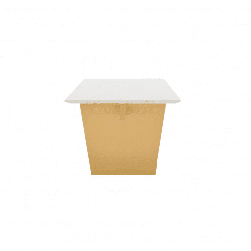 AIDEN DINING TABLE  WHITE GOLD .SIDEpsd