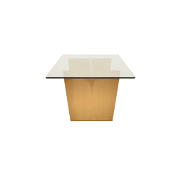 AIDEN DINING TABLE  GLASS GOLD SIDE