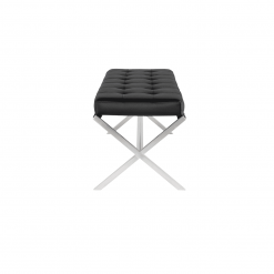 Auguste Bench black and silver 2