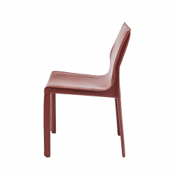 COLTER DINING CHAIR BORDEAUX side