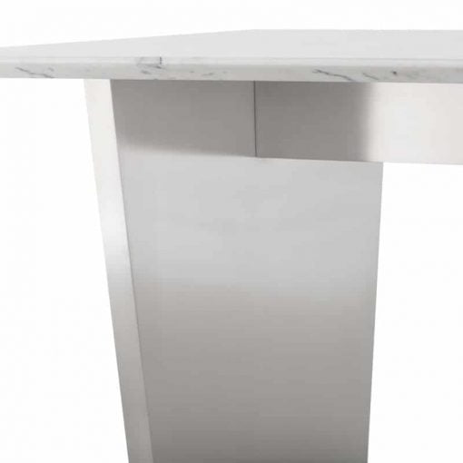 aiden white marble and light stainless steel liveshot